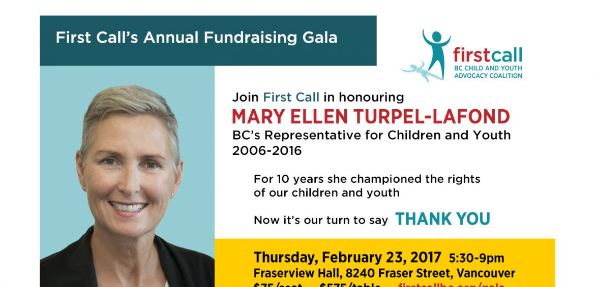 First Call 2017 Fundraising Gala poster